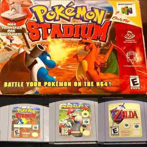 Juegos nintendo 64!: pokémon stadium, mario kart y zelda!!
