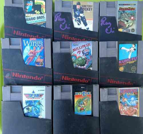 Lote de 9 juegos nintendo nes mario arcade