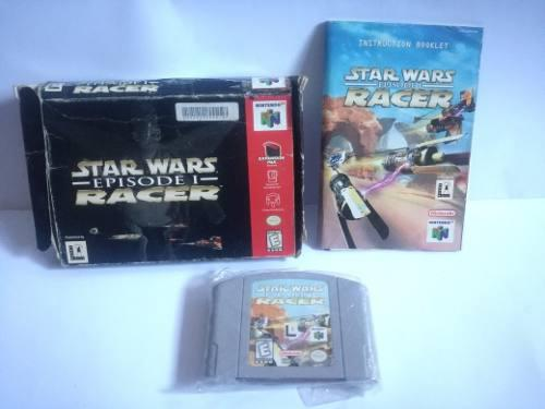Nintendo 64 star wars episodio 1 racer juego cartucho