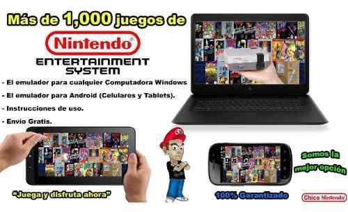 Paquete de 1,000 juegos nintendo nes para tu pc y android
