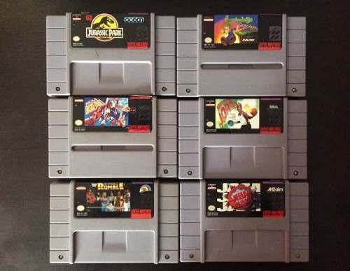 Súper Nintendo Juegos Lote Street Fighter Mortal Kombat