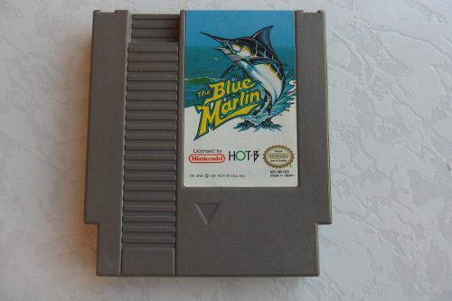 The blue marlin juegazo para tu nes etiqueta en buen estado