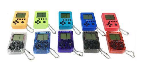 Mini consola tetris videojuegos llavero bolsillo retro /e