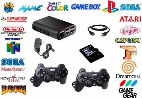 Mini consola videojuegos retro recalbox+kodi