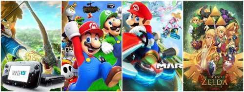 Wii u nintendo 70 juegos dd 500gb negocio o colección