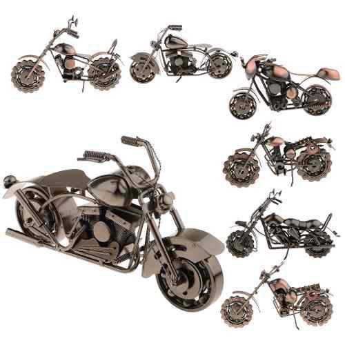 Colección de arte de motos de hierro hechos a mano modelo