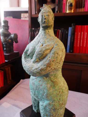Escultura De Bronce Heriberto Juarez Mujer Original Con Base