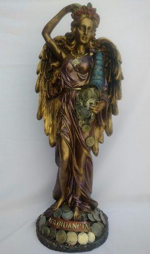Escultura ángel de la abundancia - color oro viejo