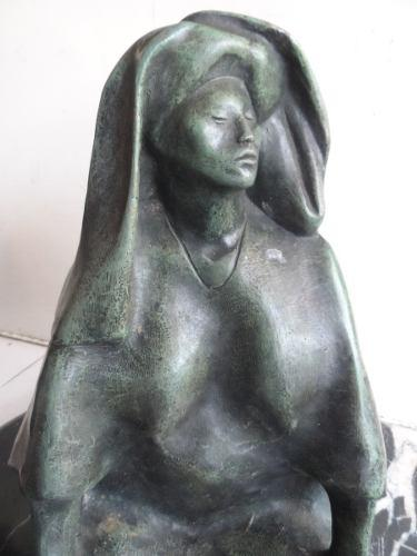 Francisco Zuñiga Escultura De Bronce Tehuana Figura 1977
