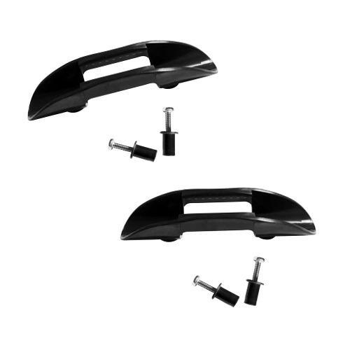 2 piezas duradero kayak negro nilón paddle clip titular
