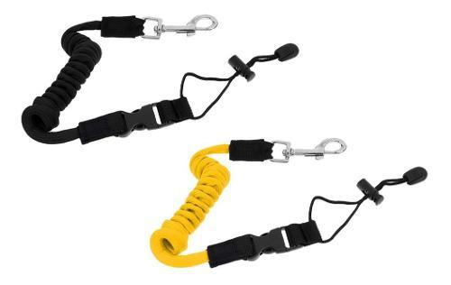2 piezas safety kayak boat paddle leash caña de pe