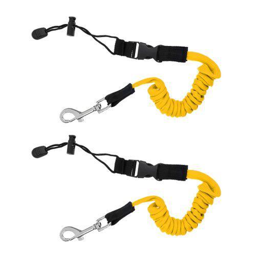 2pcs safety kayak paddle leash fishing rod pole coiled lanya