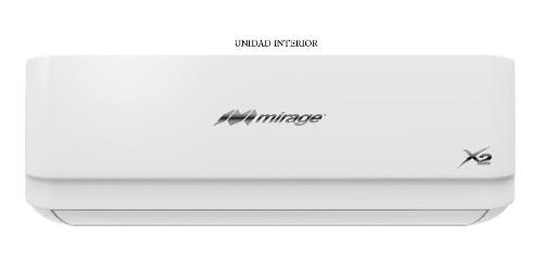Aire acondicionado mini split mirage x2 frio/calor 1ton 220v