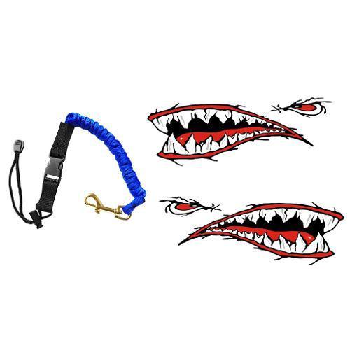 Elastic kayak paddle leash fishing rod leash + 2 pieces shar