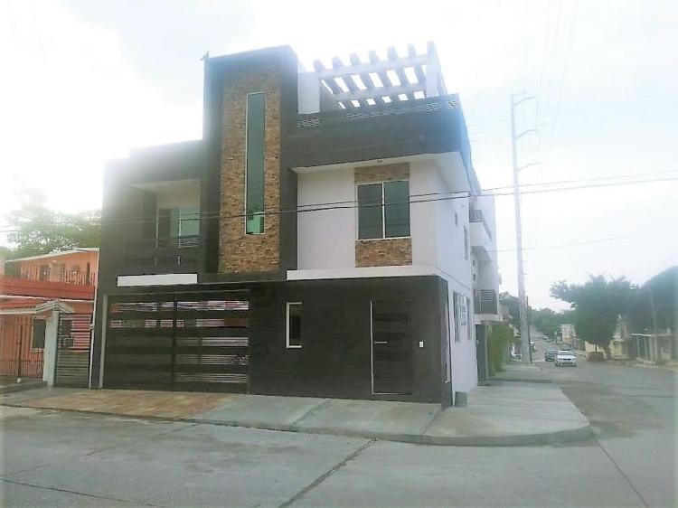 Moderna casa nueva en venta, col. carrillo puerto. cd.