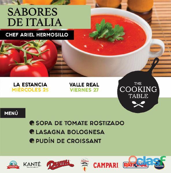 Clases y cursos en the cooking table