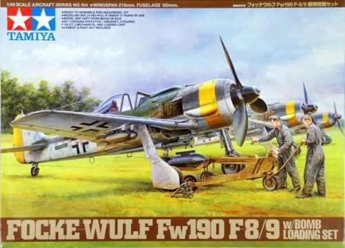 Avión tamiya 1/48 focke-wulf fw190 f-89 w/bomb set 61104