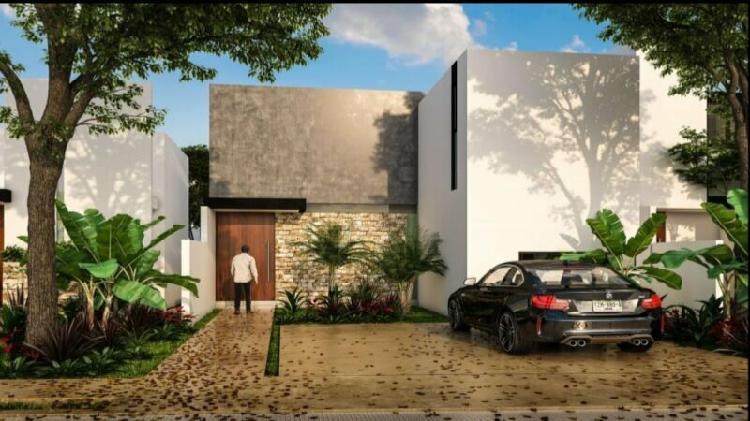 Casa en venta en privada al norte de mérida modelo 150