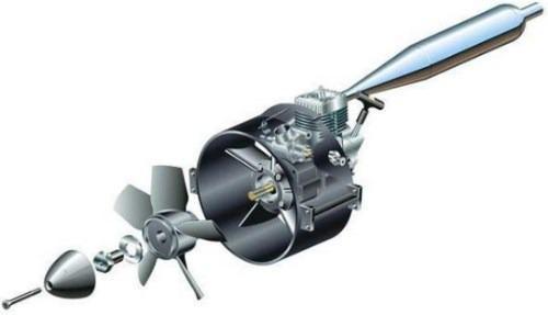 Motor toki 20 nitro con sistema ducted fan (tipo turbina)