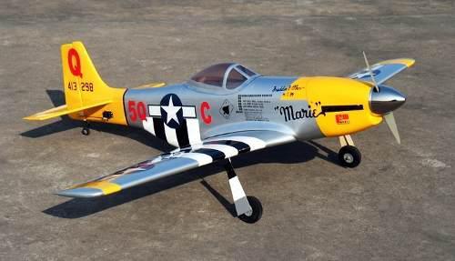 Mustang p51d, avión de radio control kit para armar