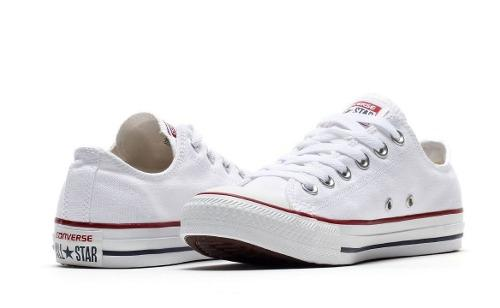 Tenis converse all star ox optical blanco/rojo-m7652