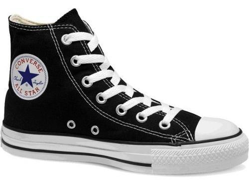 Tenis converse negros lona bota 100% original 3 al 10 mex