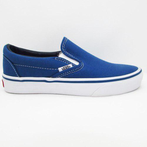 Tenis vans slip on classic vn-0eyenvy navy azul unisex