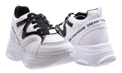 Tenis zapato casual para mujer de moda blanco