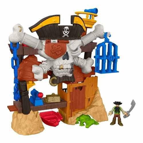 Imaginext guarida barbanegra pirata fisher price