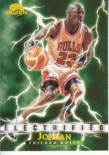 1995-96 skybox premium electrified michael jordan bulls