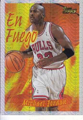1996-97 topps season's best en fuego michael jordan bulls