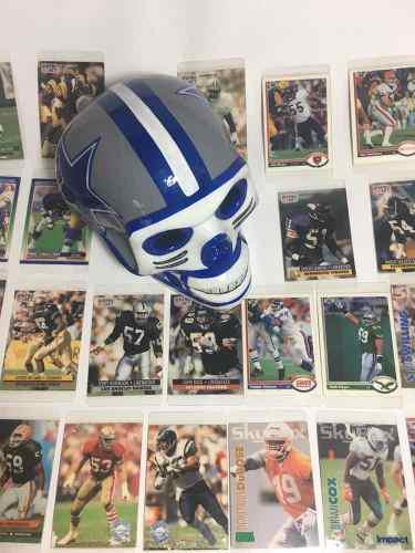 Colección 23 tarjetas nfl y calavera cowboys ceramica (paq)