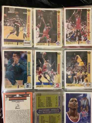 Colección de cartas de varios deportes