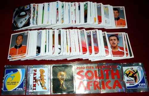 Estampas album panini mundial sudafrica 2010 *no hay pop-ups