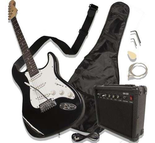 Guitarra eléctrica tipo stratocaster amplificador