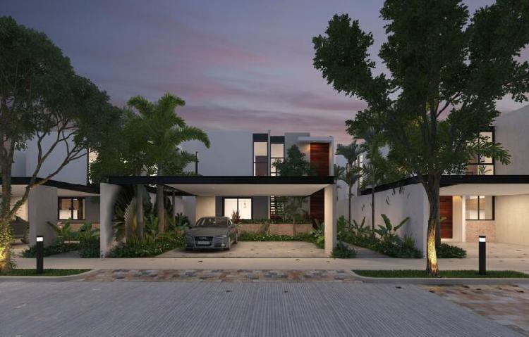 Preventa hermosas casa en privada ya'ah-beh. conkal.