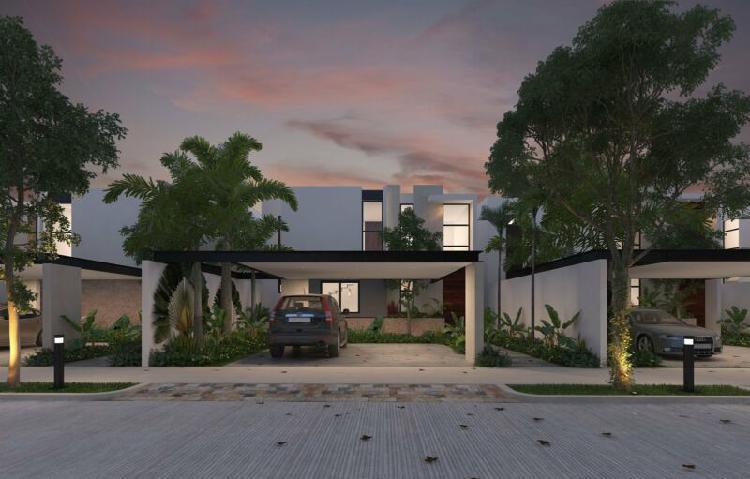 Preventa hermosas casa en privada ya'ah-beh conkal, yucatan.