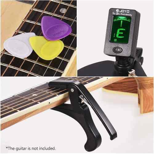 Set accesorio guitarra para principiantes con presilla en lc
