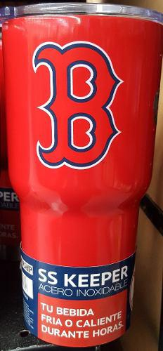 Termomedias rojas de boston red sox 853 ml acero inoxidable