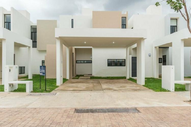 Venta de casa nueva de 3 recamaras en privada conkal merida