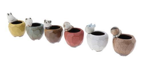 Cactus de cerámica caja maceta de planta herramientas de