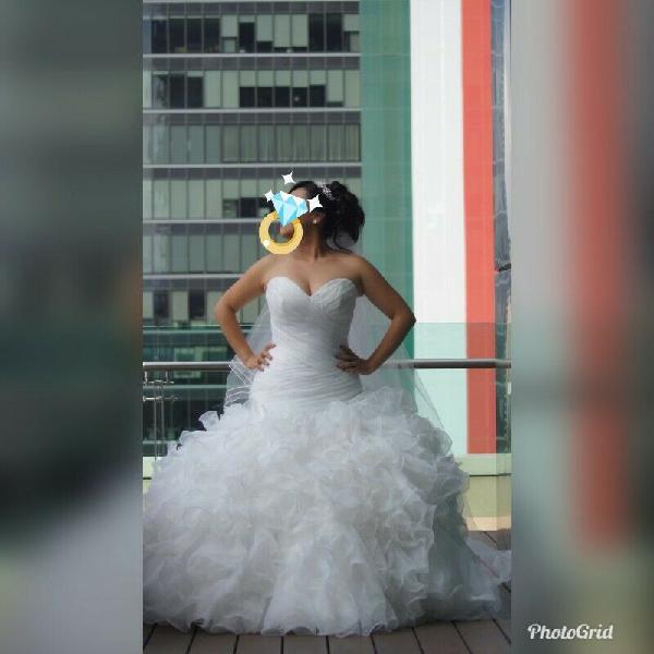 Hermoso vestido de novia picchelina
