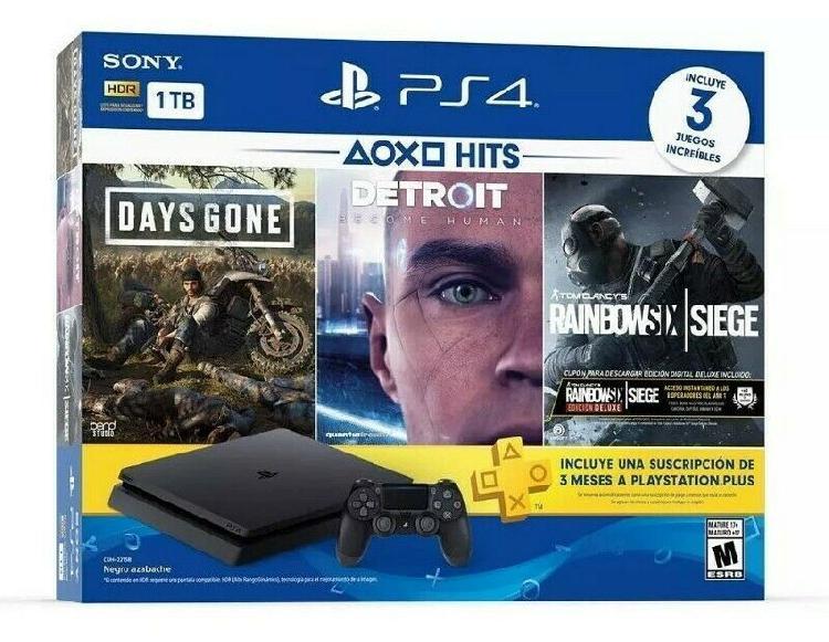 Playstation 4 con 3 juegos