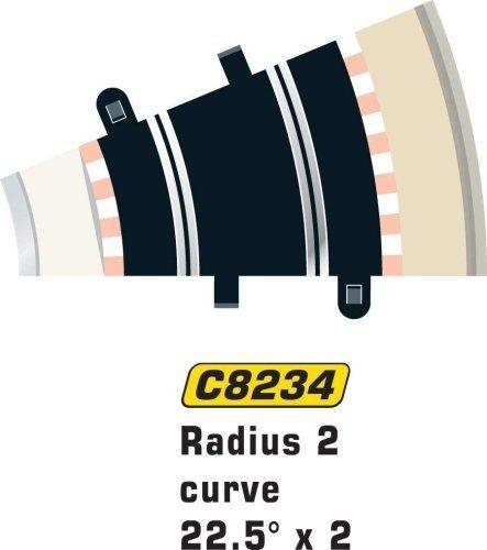 Radio de la pista scalextric c8234 - curva de 22,5 grados