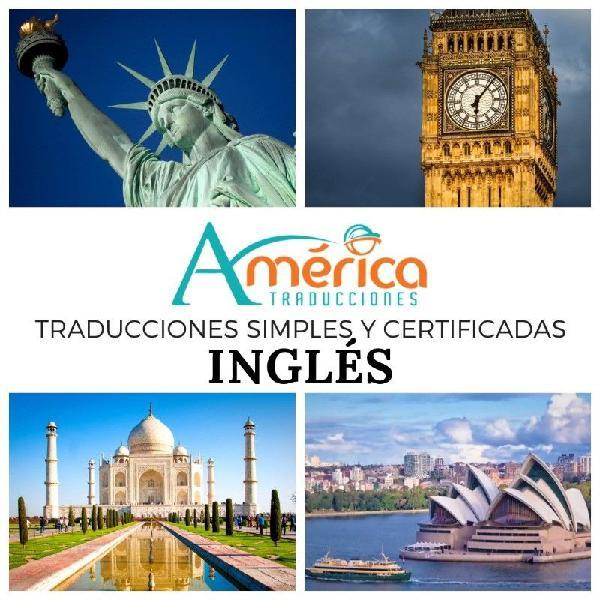 Traducción del/al inglés - simple y certificada