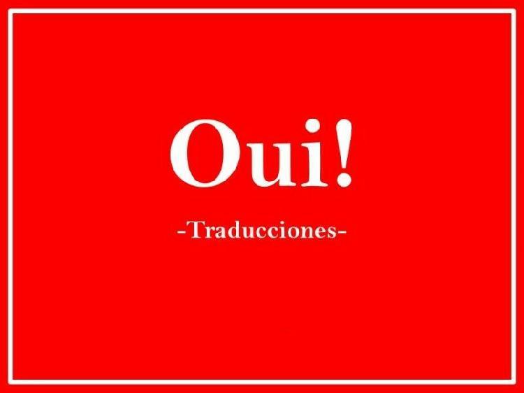 Traducciones francés inglés español rapidez