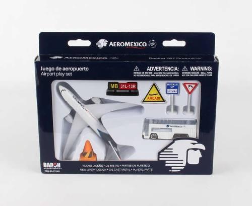 Avión boeing b787-8 aeroméxico play set juego aeropuerto