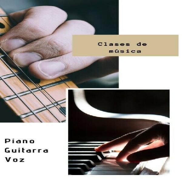 Clases de guitarra, piano o voz