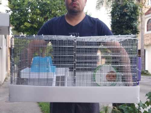Jaula nueva equispada artesanal pata hamster 70x45cm