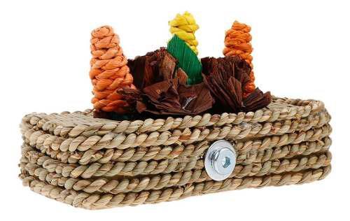 Lindo conejo hámster juguetes paja accesorios de animales